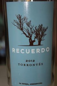 2012 Recuerdo Torrontes