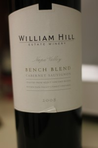 2008 William Hill Bench Blend Cabernet Sauvignon
