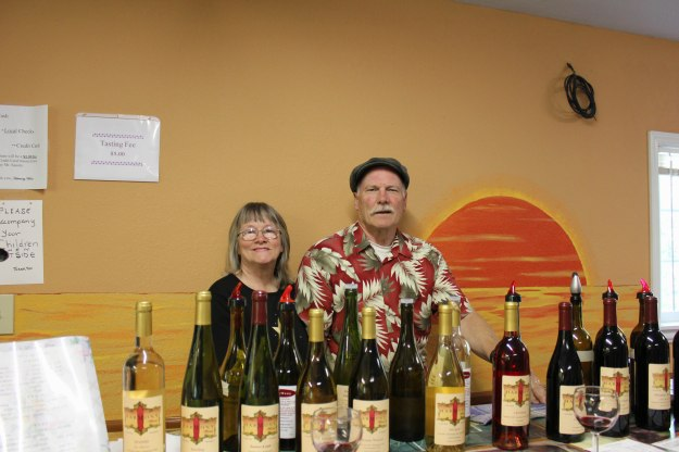 HarMony Winery Owners Deann & Les, along with the wines they were pouring during my visit!