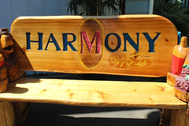 The bench outside of HarMony.
