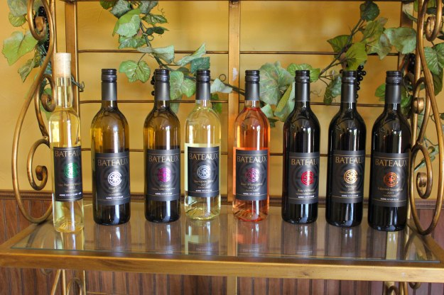 The full lineup of Bateaux Cellars Wines